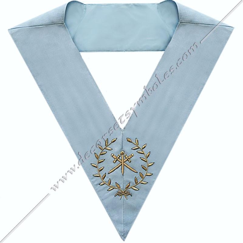 RFM 019 - Maître des cérémonies, sautoir d'officier du RFM acacia, décors maçonniques, bijoux, franc maçonnerie