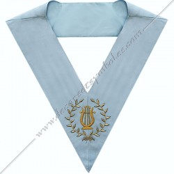 SRFM 072 - Maître de musiques, sautoir d'officier du RFM acacia, décors maçonniques, bijoux, franc maçonnerie