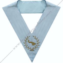 SRFM168 - Maître des banquets, sautoir d'officier du RFM acacia, décors maçonniques, bijoux, franc maçonnerie