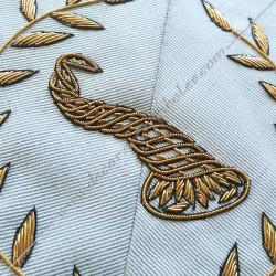 Maître des banquets, sautoir d'officier du RFM acacia, décors maçonniques, bijoux, franc maçonnerie