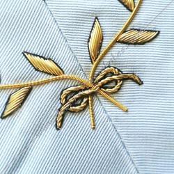 Architecte, sautoir d'officier du rite français moderne, acacia, décors maçonniques, bijoux, franc maçonnerie, acacia fil d'or