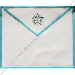 TRF 076B -Tablier maçonnique de compagnon. Décors franc-maconnerie, accessoires loges, fm, bijoux, rite français, loge bleue