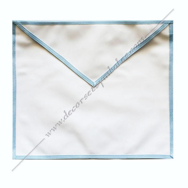 TRE075C-tablier-maçonnique-compagnon-rite-regime-ecossais-rectifié-decors-franc-maconnerie-bleu-cocardes-symboles-gants-fm