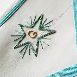 Tablier maçonnique de compagnon, décors franc-maconnerie, accessoires loges, fm, bijoux, rite français, loge bleue, étoile