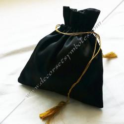 Tronc de la veuve, sac maçonnique. Outils de loges, accessoires de franc maçonnerie, FM, hospitalier, aumône