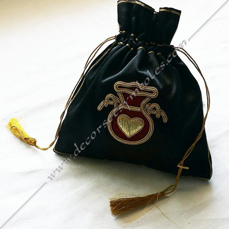 SAC001 - Tronc de la veuve, sac maçonnique. Outils de loges, accessoires de franc maçonnerie, FM, hospitalier, aumône