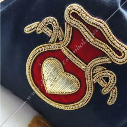 SAC001 - Tronc de la veuve, sac maçonnique. Outils de loges, fil d'or, accessoires de franc maçonnerie, FM, hospitalier, aumône