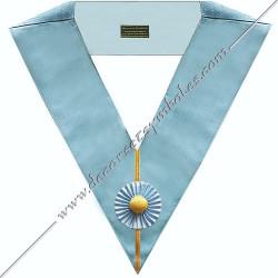 SRE010C-sautoir-cordons-maconnique-officier-regime-ecossais-rite-rectifie-decors-franc-maconnerie-dos-bleu-fm