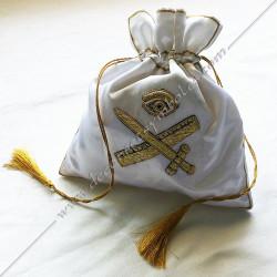 SAC002 - Tronc de la veuve, sac maçonnique. Outils de loges, accessoires de franc maçonnerie, FM,  symboles et signes