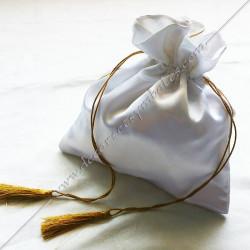 Tronc de la veuve, sac maçonnique. Outils de loges, accessoires de franc maçonnerie, FM,  symboles et signes, fil d'or