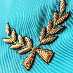 Cordon de Maitre, RF, équerre, compas. Décors franc-maconnerie, bijoux, FM, décors maçonniques, acacia, pin's, cadeaux