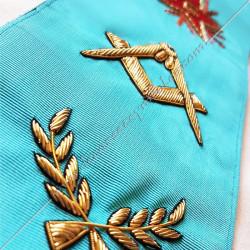 Cordon de Maitre, RF, équerre, compas. Décors franc-maconnerie, bijoux, FM, décors maçonniques, symboles, cadeaux