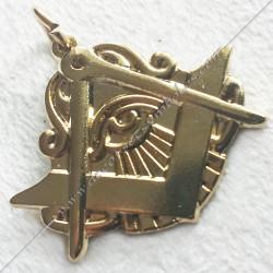 pendentif oeil equerre compas, bijou maconnique or, décors et cadeaux de franc maconnerie, symboles et signes FM, colliers