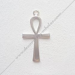 GK641- pendentif croix d'Ankh, bijou maconnique argenté, décors et cadeaux de franc maconnerie, symboles et signes FM