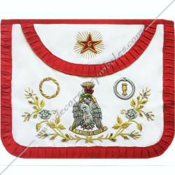 HRF204-tablier-maconniques-4eme-ordre-rite-francais-chapitre-loges-grades-perfection-decors-franc-maconnerie-fm