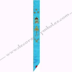 Cordon de Maitre du rite français, broderies dorées, symboles, maçonniques, cadeaux, décors franc-maconnerie