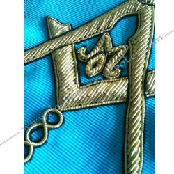 cordon de maitre, rite français, équerre, compas, acacia, pavé mosaïque. Décors franc-maconnerie, cadeaux maconniques