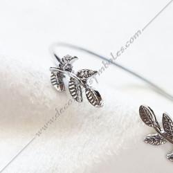 Bracelet jonc acacia, acier or, argent, bijoux fantaisie, cadeaux objets maconniques femmes, decors, symboles FM