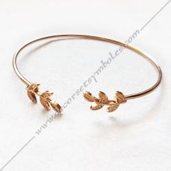 Bracelet jonc acacia, acier, bijoux fantaisie, cadeaux objets , maconniques femmes, decors,