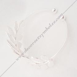 bracelet-jonc-manchette-branches-feuilles-acacia-or-argent-bijoux-fantaisie-cadeaux-maconniques-femmes-robes-decors-symboles