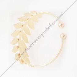 bracelet-jonc-manchette-branches-feuilles-acacia-or-argent-bijoux-fantaisie-cadeaux-maconniques-femmes-decors-symboles-fm