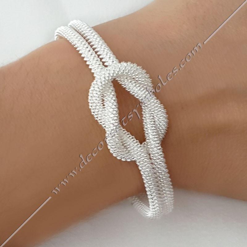MSC260- bracelet-jonc-manchette-lac-amour-argent-swarovski-bijoux-fantaisie-cadeaux-maconniques-femmes-decors-symboles-fm