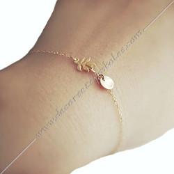 bracelet-fin-chaine-acacia-or-argent-bijoux-fantaisie-cadeaux-maconniques-femmes-decors-symboles-fm