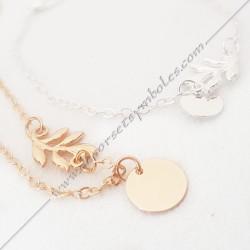 bracelet-fin-chaine-acacia-dore-argente-bijoux-fantaisie-cadeaux-maconniques-femmes-decors-symboles-fm-mode