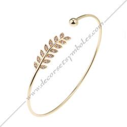 bracelet-jonc--branche-acacia-or-zyrcon-argent-bijoux-fantaisie-cadeaux-maconniques-femmes-decors-symboles-fm
