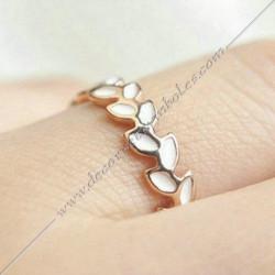 bague-symboles-maconniques-bijoux-loges-or-email-cadeaux-femmes-franc-maconnerie- feuille-branche-acacia-FM
