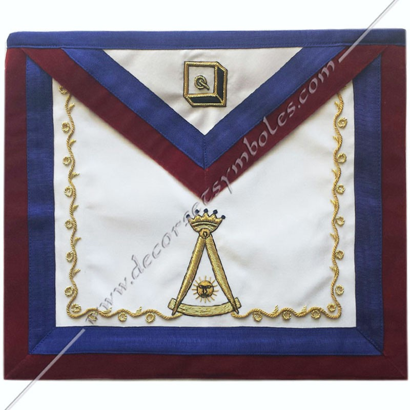 Masonic Regalia 14th Degree Apron of AASR, Ancient and Accepted Scotish  Rite with Carmine velvet for Freemasons, FM