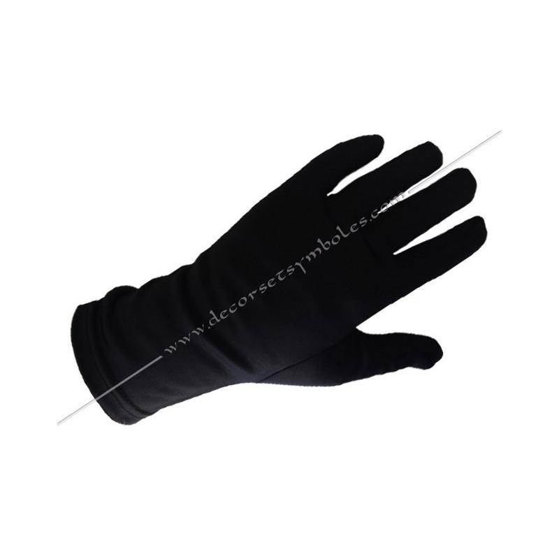 GNN010 gants noirs, ceremonie, decors, maconniques, franc-maconnerie, loges, rites, fm, accessoires