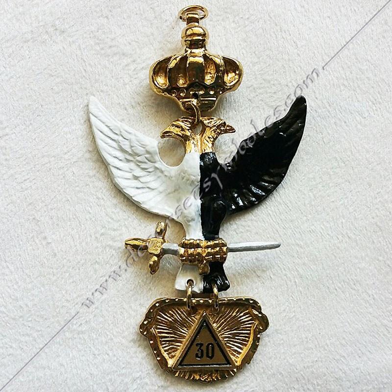 FGK330-bijou-maconnique-mobile-30eme-degre-reaa-rite-ecossais-ancien-accepte-memphis-decors-aigle-bicephale-symboles-fm