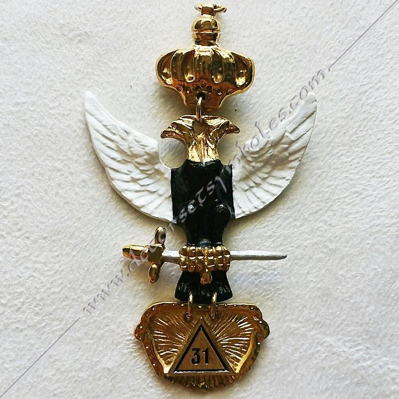 FGK331-bijou-maconnique-mobile-31eme-degre-reaa-rite-ecossais-ancien-accepte-memphis-decors-aigle-bicephale-symboles-fm