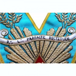 banderole personnalisée, nom de loge, sautoir de vénérable, cadeaux, décors maçonniques