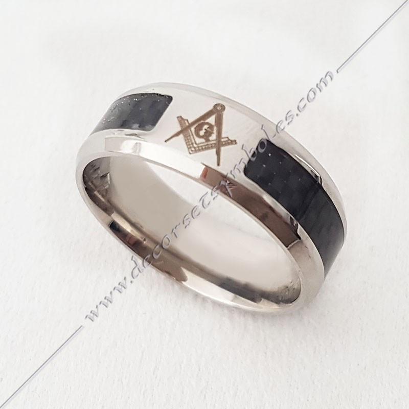 BFM050- bague-maconnique-equerre-G-compas-bijoux-loges cadeaux-franc-maconnerie-rites-loges