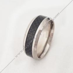 bague-maconnique-equerre-G-compas-bijoux-loges-acier-noir-franc-maconnerie-rites-loges
