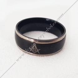 bague-maconnique-equerre-G-compas-resine-acier-bijoux-loges cadeaux-franc-maconnerie-rites-loges