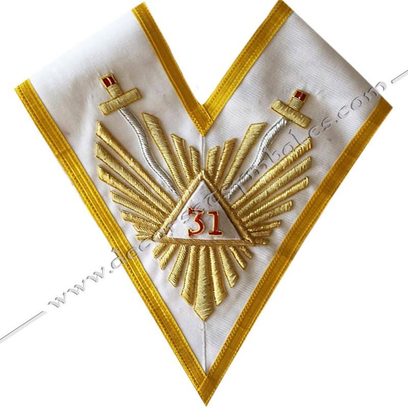 HRA162-sautoir-cordon-maconnique-31eme-32eme-33eme-degre-reaa-accessoires-cadeaux-objets-articles-ateliers-superieurs-loges-fm