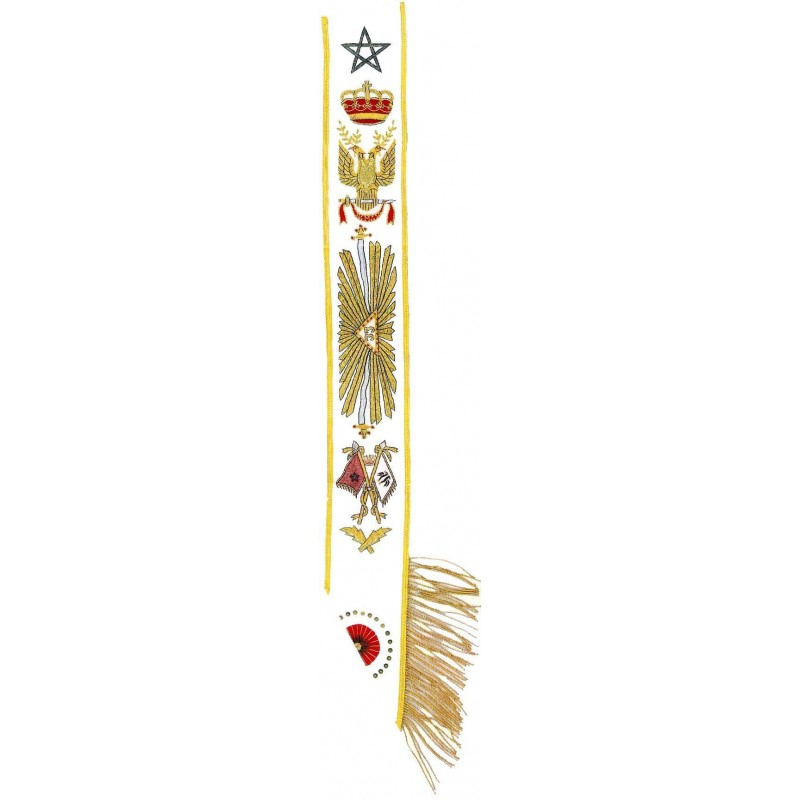 Tablier de Passe Maitre Immediat - Decors maconniques - York - TRY 377