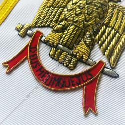 Tablier maconnique Venerable Maitre, Rite York, decors franc-maconnerie, accessoires, FM - TRY 031