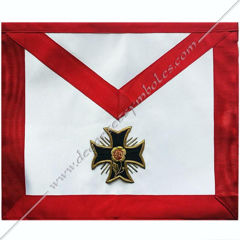 HRA 324-tablier-maconnique-18eme-degre-reaa-rite-ecossais-accepte-ancien-decors-rose-croix-cadeaux-chapitre-rose-croix-fm