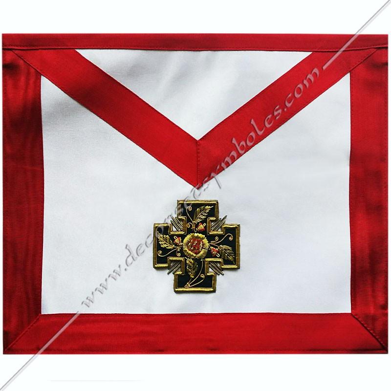 HRA050-tablier-maconnique-reaa-rose-croix-18eme-degre-rite-ecossais-ancien-accepte-decors-loges-objets-articles-chapitre-fm