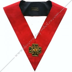 Sautoir maçonnique du 18ème degré du Rite Ecossais Ancien Accepté (REAA) avec Croix Potencée