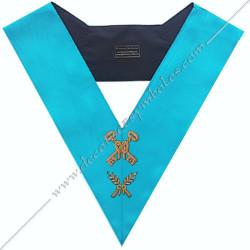 SRF 001 - Trésorier, sautoir d'officier du rite français groussier, acacia, décors maçonniques, bijoux, franc maçonnerie