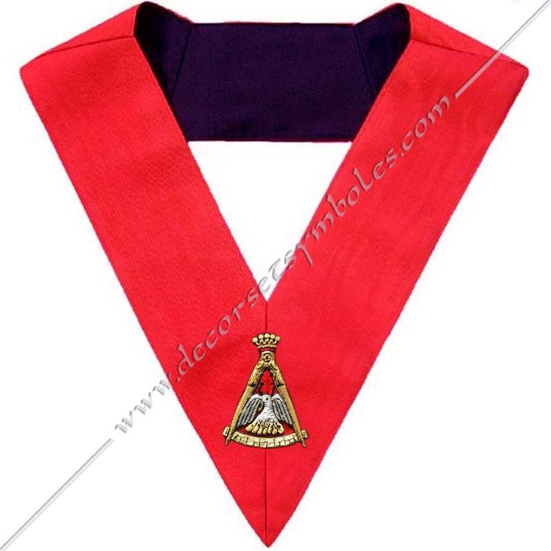 HRA151-sautoir-maconnique-18eme-degre-reaa-rite-ecossais-ancien-accepte-pelican-rose-croix-latine-decors-outils-chapitre-fm