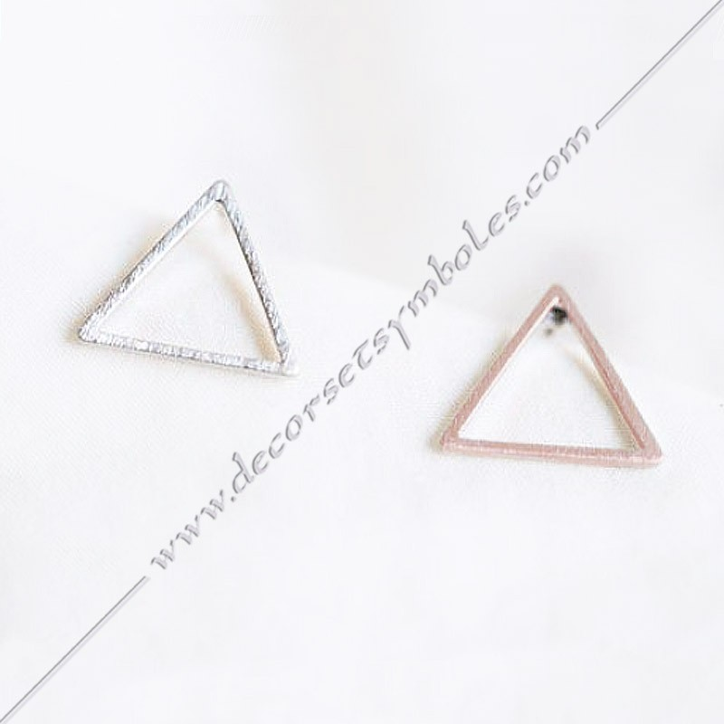 BOM002- Boucle-oreilles-triangles-or-bijoux-maconniques-symboles-decors-femmes-cadeaux-franc-maconnerie