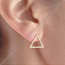 Boucled-oreilles-symboles-triangles-or-argent-bijoux-maconniques-decors-femmes-cadeaux-franc-maconnerie-objets-fm