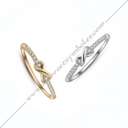 Golden plated Infinity Ring...