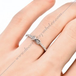 BFM013- bague-maconnique-infini-lac-amour-bijoux-loges-or-argent-cadeaux-femmes-franc-maconnerie- strass-zircon